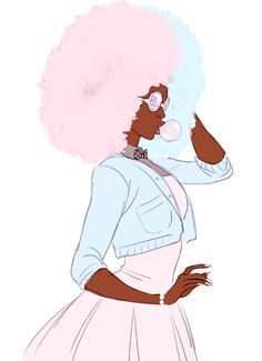 animehead said: hi, andy! it's been a loooong time. so happy to see you posting more! and i wanted to ask have you ever considered an human version of cotton candy garnet? i'd love to see what you...