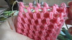 Узор 686 спицами Knitting Stiches, Knitting Videos, Crochet Videos, Lace Knitting, Crochet Stitches, Tunisian Crochet, Crochet Shawl, Knit Crochet, Crochet Flower Patterns