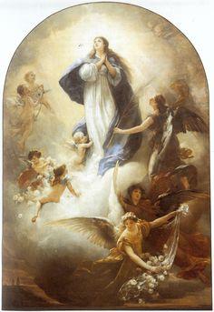 """Ludwig von Löfftz. """"Assumption of Mary"""" (1888)"""