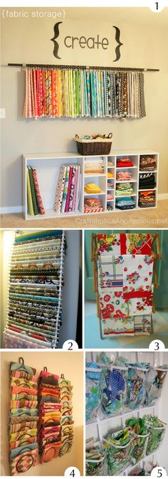 Toujours de belles idées chez Plumetis Mag ! #hanging-fabric# Coin Couture, Couture Sewing, Fabric Storage, Craft Storage, Home Office, Sewing Crafts, Sewing Projects, Hanging Fabric, Home Organisation