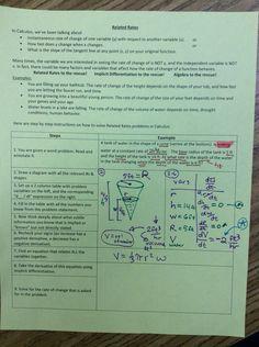 Math Teacher Mambo: Related Rates