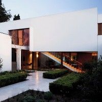 57STUDIO have designed the Fray León house in Santiago, Chile.