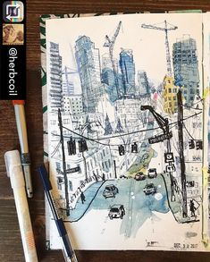 (@urbansketchers) @herbcoil