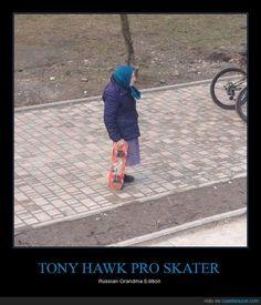 TONY HAWK PRO SKATER - Russian Grandma Edition   Gracias a http://www.cuantarazon.com/   Si quieres leer la noticia completa visita: http://www.estoy-aburrido.com/tony-hawk-pro-skater-russian-grandma-edition/
