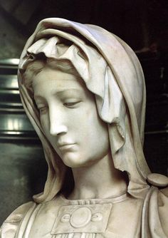 Detail close up of the Madonna #Michelangelo 'Madonna and Child' - 1501-05 at #Bruges - Belgium
