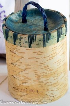 Birch Bark, Canisters, Leather Backpack, Container, Baskets, Woodcarving, Driftwood, Spoon, Bottles