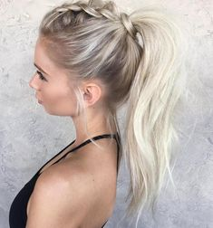 Tousled Ponytail With A Braid