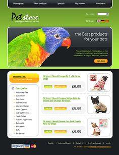 Website Template #19055 Pet Store osCommerce