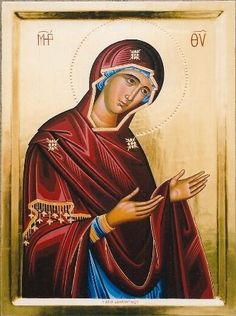 Religious icon of Virgin
