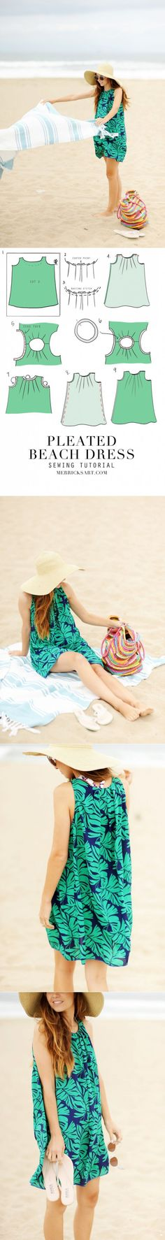 How to sew a summer beach dress (DIY)...♥ Deniz ♥