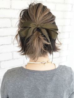 ワンサイドリボンアレンジ_ba22864 - 24時間いつでもWEB予約OK!ヘアスタイル10万点以上掲載!お気に入りの髪型、人気のヘアスタイルを探すならKirei Style[キレイスタイル]で。