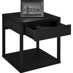 Altra Furniture Delilah Square End Table in Black