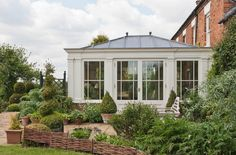 Lead Roof Orangery Orangery Extension Kitchen, Kitchen Orangery, Conservatory Extension, Kitchen Diner Extension, Conservatory Garden, Roof Extension, Extension Ideas, Lead Roof, Garden Room Extensions