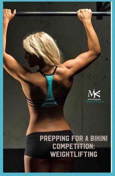 Prepping for a bikini competition: Weightlifting Source by bgourleyr competition prep Bikini Competition Prep, Fitness Competition, Physique Competition, Competition Time, Figure Competition, Bikini Fitness, Bikini Workout, Weight Lifting, Npc Bikini Prep