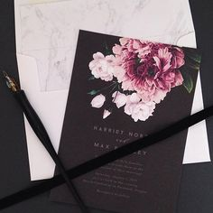 First post of 2016 (already feeling like a slacker! ), it's just been so busy over here with all the holiday engagements. Very excited to work with all you brides and grooms tying the knot this year! Also can't wait to show some new things that have been in the works for the 2016 collection  #stationery #weddinginvitations #floral #moody #design #lettering #typography #wedding #marble