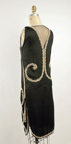 Dress, Evening. Callot Soeurs  (French, active 1895–1937). Date: ca. 1925. Culture: French. Medium: silk, metallic thread, glass. Dimensions: Length: 40 1/2 in. (102.9 cm).