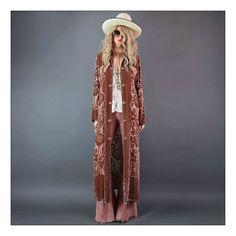 Hold On Loosely / Girl On A Vine...velvet kimono