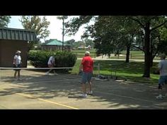 """▶ Learn how to play pickleball - YouTube  And guess where the name """"Pickle Ball"""" came from?!"""
