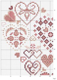 Cross Stitch Embroidery, Cross Stitch Patterns, Cross Stitch Freebies, Valentines Design, Cross Stitch Heart, Animal Crossing, Needlepoint, Needlework, Textiles