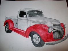 Old Chevy Pickup Portrait Watercolor 9 x 12 inches or Provide Picture or Idea Made to Order by Pigatopia Watercolor Portraits, Watercolor Paper, Old Chevy Pickups, Handmade Gifts For Him, Pet Memorials, Hand Painted Ceramics, Ceramic Painting, Pick Up, Pet Portraits