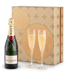 Champagne and Glassware Gift Set-Moet & Chandon Imperial Campagne