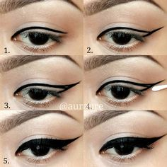.@auraure | Easy winged liner makeup pictorial. There are so many ways on how to do winge...