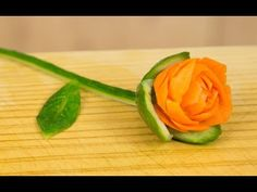 How to Make a Carrot Rose Garnish - YouTube