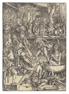 Albrecht Durer (1471-1528) The Martyrdom of Saint John 1496 (391 x 280 mm)