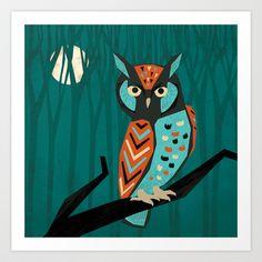 f779e42286 Scops Owl Art Print by Eine Kleine Design Studio