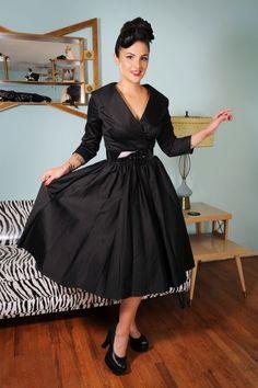 Pinup Couture Birdie Black Swing Dress 102 10 15385 3