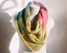 Tulips  Together bright stiped knit infinity by WrapturebyInese, $60.00