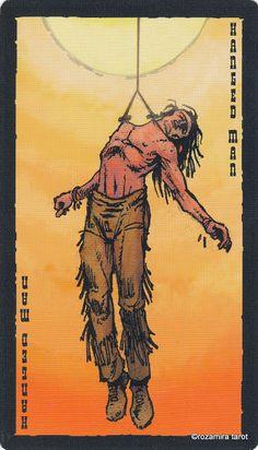 XII. The Hanged Man - The Prairie Tarot  by Robin Ator