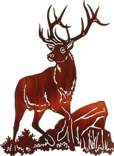 Metal Wall Art - Something Downwind (Elk) Metal Wall Decor