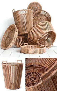 Tendance Basket 2017  Fair Trade Scrapwood Baskets by Piet Hein Eek