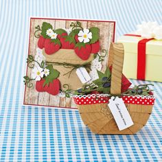 Sweet strawberry cards from Papercraft Inspirations 127!