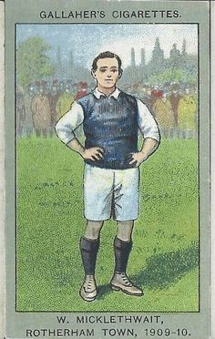 W. Micklethwait of Rotherham Town in 1909-10.