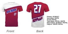 Spectrum custom jerseys | Sublimated Crew neck Backstop