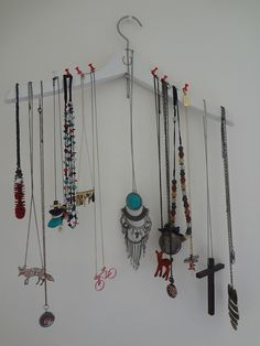 porte-colliers DIY, porte bijoux