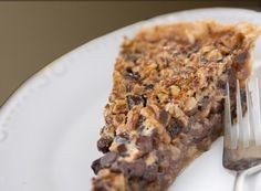 Not that I have anything against a good traditional pecan pie, but this looks like it could easily take its place...
