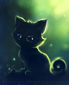 i love apofiss work, it has a magic vibe in them and cats. you have to love the cats :)