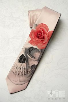 Men's gothic wedding necktie. Dia de los muertos by tiestory, $35.00