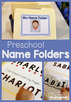 One of our first important literacy goals in preschool is to be able to recognize and spell our first names. Younger preschoolers (3-year-olds) practice spelling their names every day at school. We us