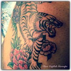 Tiger tattoo by Don Catfish Gorospe