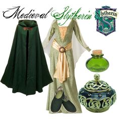 """Medieval Slytherin"" by nearlysamantha on Polyvore"