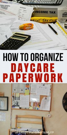 How to Organize your Daycare Paperwork. Staying on top of all the daycare paperwork that's required is not easy. There is so much to keep track of and its far simpler when everything has a place. Daycare Contract, Daycare Setup, Daycare Organization, Organizing Paperwork, Daycare Ideas, Daycare Themes, Daycare Design, Kids Daycare, Daycare Crafts