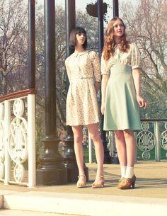 vintage, style, retro, heels, dress, summer, skirt, fashion