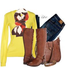 A fashion look from September 2014 featuring ONLY sweaters, American Eagle Outfitters and Frye boots. Browse and shop related looks. Fall Fashion 2016, Winter Fashion Casual, Fall Winter Outfits, Winter Style, Autumn Winter Fashion, Women's Fashion, Casual Outfits, Cute Outfits, Work Outfits