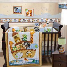 Lambs Amp Ivy S S Noah 9 Piece Crib Bedding Set Lambs