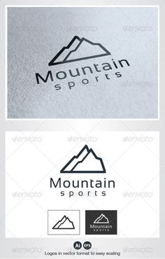 Mountain Sports - Logo Design Template Vector #logotype Download it here: http://graphicriver.net/item/mountain-sports-logo/2635506?s_rank=421?ref=nesto