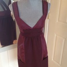 See by Chloe frock. Gorgeous wine color. Sz small This dress/frock is so pretty! The color is so rich! It has the most interesting detail! Has never been worn! Tags on! Sized to fit small/0 See by Chloe Dresses
